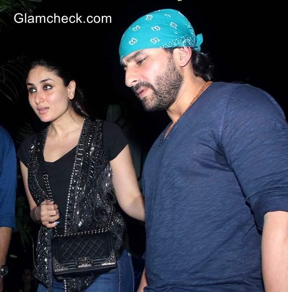 Saif Ali Khan and Kareena Kapoor spotted at a restaurant