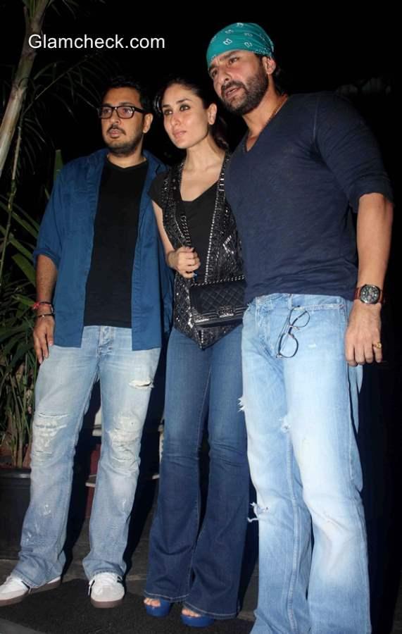 Saif Ali Khan with Kareena Kapoor spotted at a restaurant