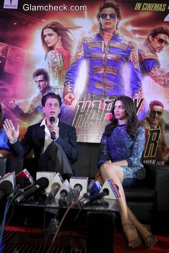 Shahrukh and Deepika Promote Happy New Year