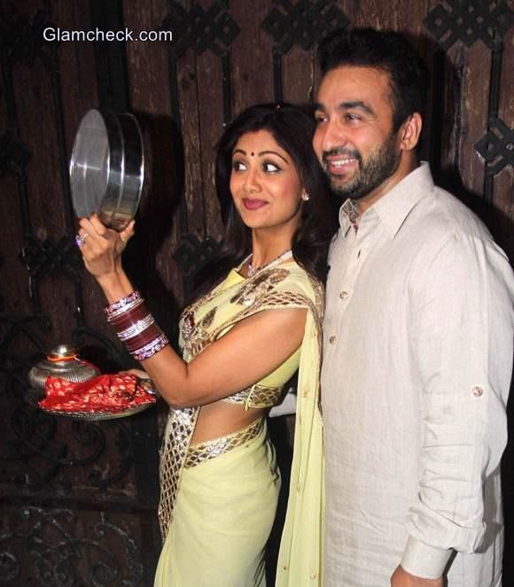 Shilpa Shetty 2014 Karva Chauth Look