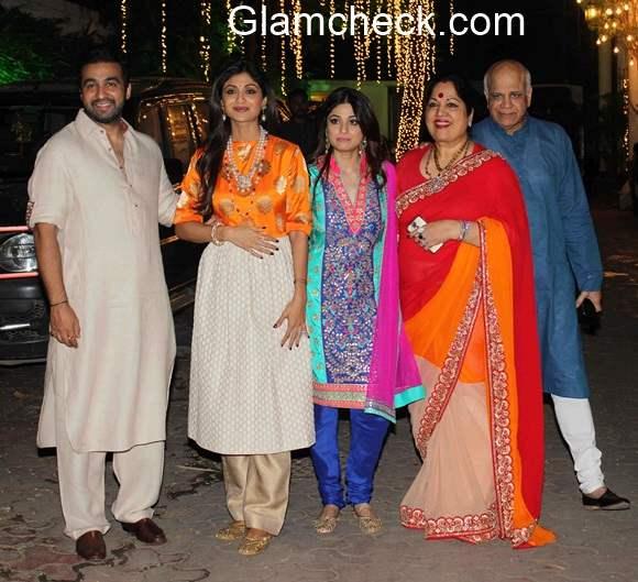 Shilpa Shetty Raj Kundra Diwali Party