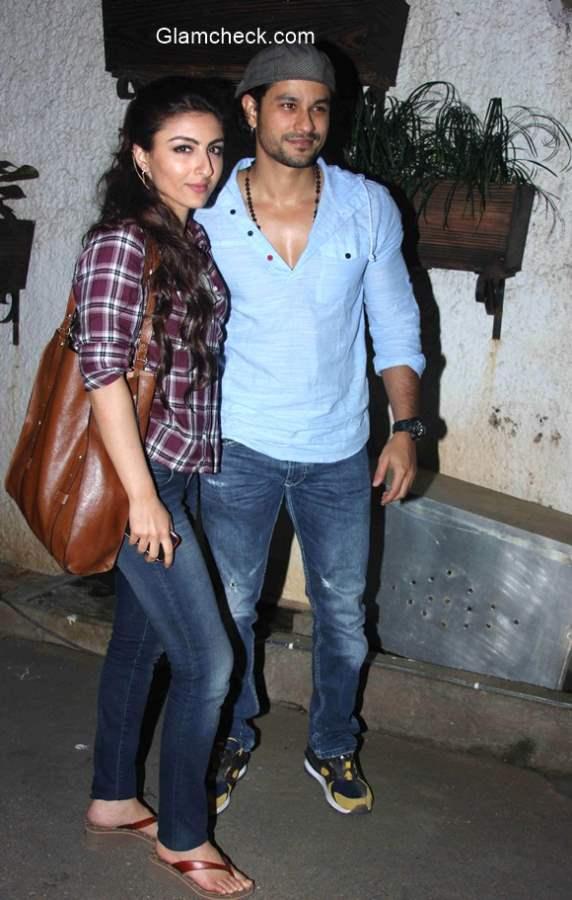 Soha Ali Khan and Kunal Khemu spotted at the screening of Gone Girl