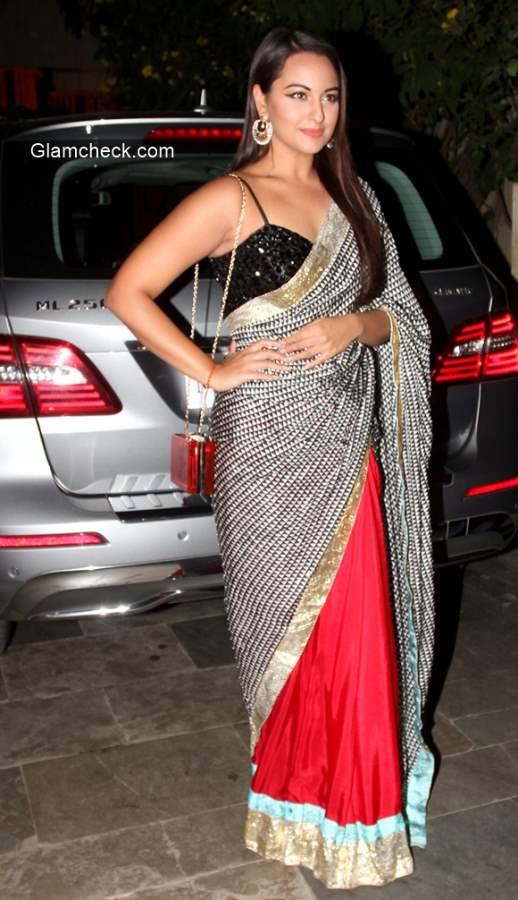 Sonakshi Sinha in Sari 2014
