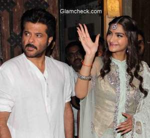 Sonam Kapoor Diwali celebration with her father Anil Kapoor