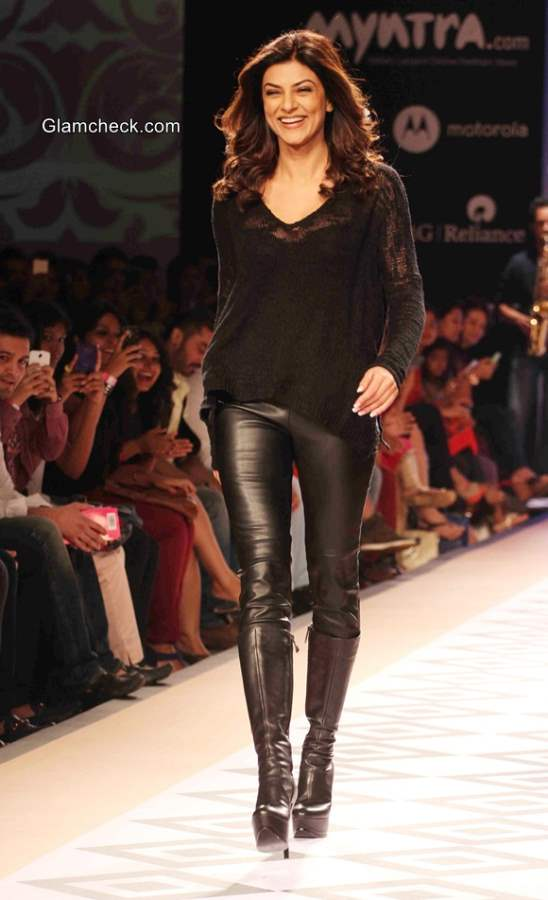 Sushmita Sen at the Myntra Fashion Weekend 2014