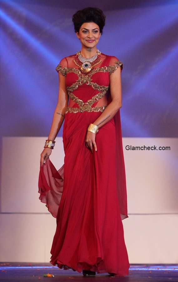 Sushmita Sen in Saree Gown