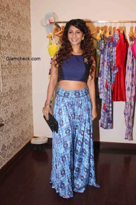 Tanisha Mukherjee in Nisha Sainani Crop top