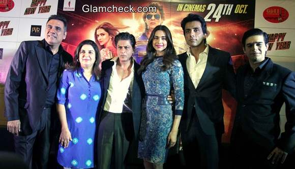 The Cast of Happy New Year during a promotion even in Ahmedabad