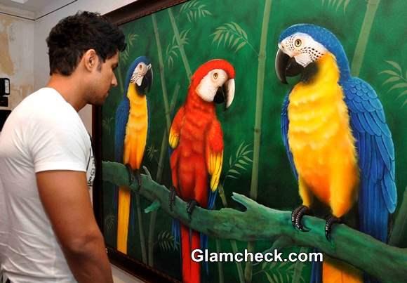 art show When Fairies Meet Ganesha by Dr Seema Chaudhary and Nitin Chaudhary