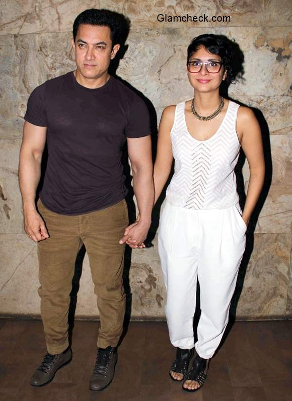 Amir Khan with Kiran Rao at Special Screening of After My Garden Grows