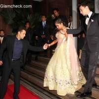 Arpita Khan with her husband Aayush Sharma Wedding Reception