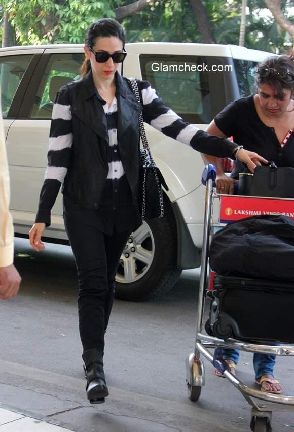 Celeb Spotting - Karisma Kapoor at Mumbai Airport