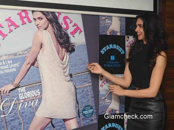 Deepika Padukone at the unveiling of the Stardust magazine cover