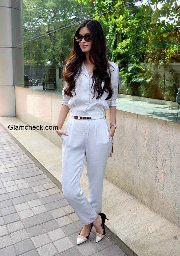 Diana Penty in White Jumpsuit 2014