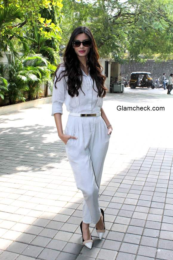 Diana Penty in White Jumpsuit Unveils Travel Plus Cover 2014