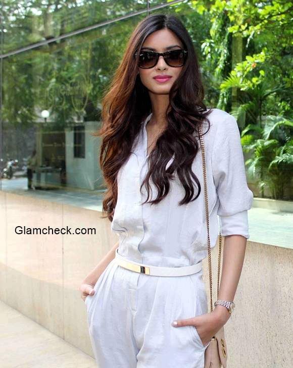 Diana Penty in White Jumpsuit Unveils Travel Plus Cover