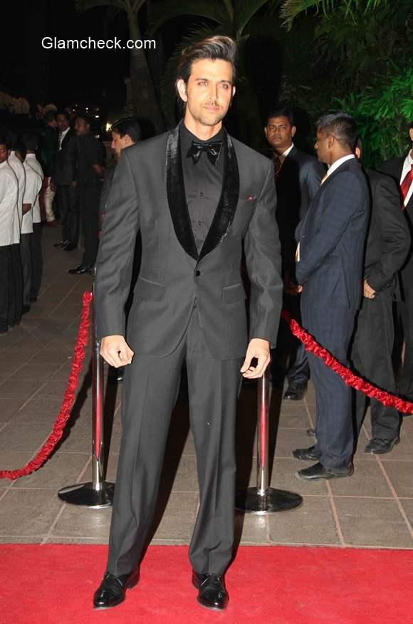 Hrithik Roshan at Arpita Khan and Aayush Sharma Wedding Reception
