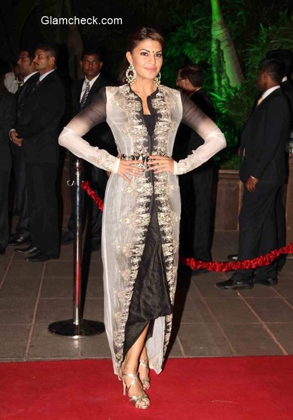 Jacqueline Fernandez at Arpita Khan and Aayush Sharma Wedding Reception