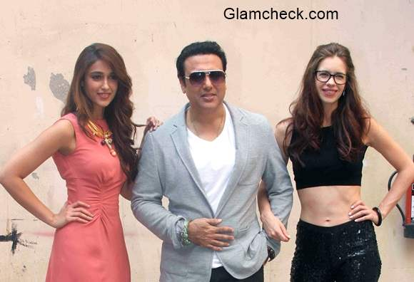 Kalki  Govinda and Ileana ups the style quotient at a press conference for film Happy Ending