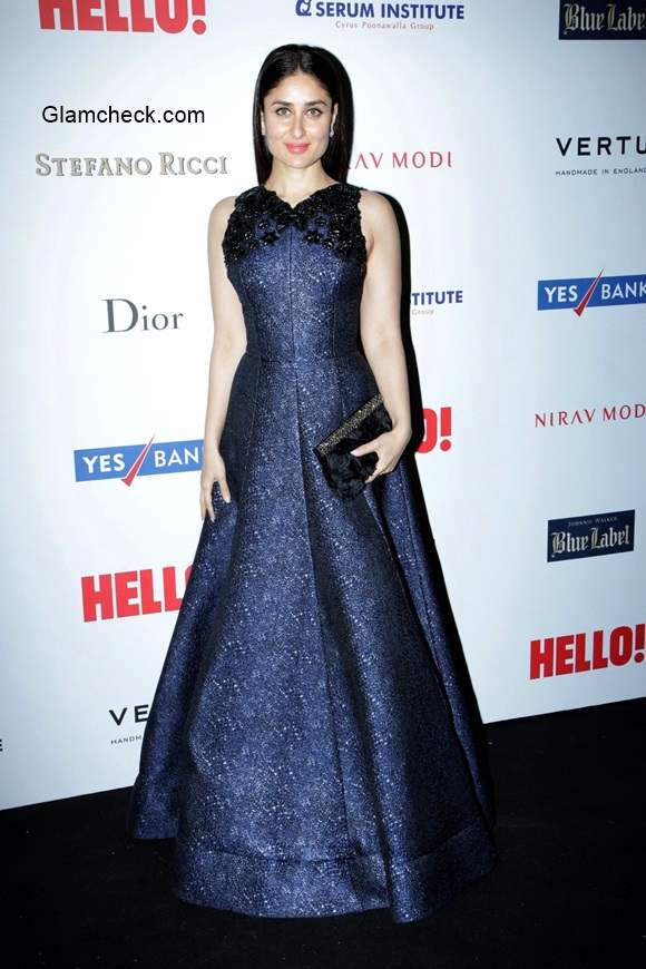 Kareena Kapoor Gown at HELLO Hall of fame awards 2014