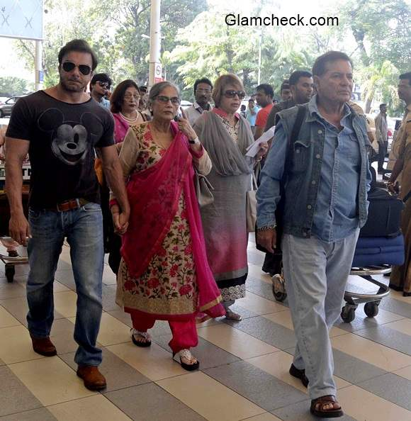 Khan Family Leaves for Arpita Khan Wedding