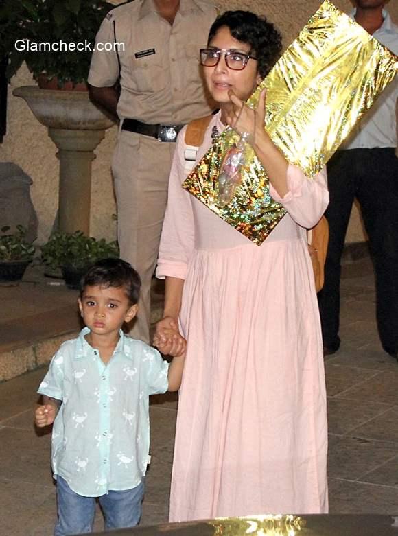 Kiran Rao along with her son Azad Rao Khan