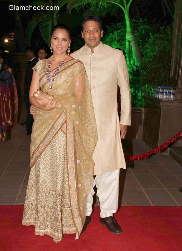 Lara Dutta along with her husband and tennis player Mahesh Bhupathi