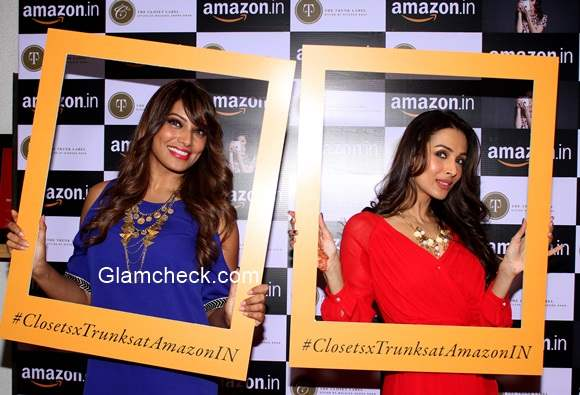 Mailaika Arora Bipasha Basu Announce Amazon.in and The Label Corp Exclusive Partnership