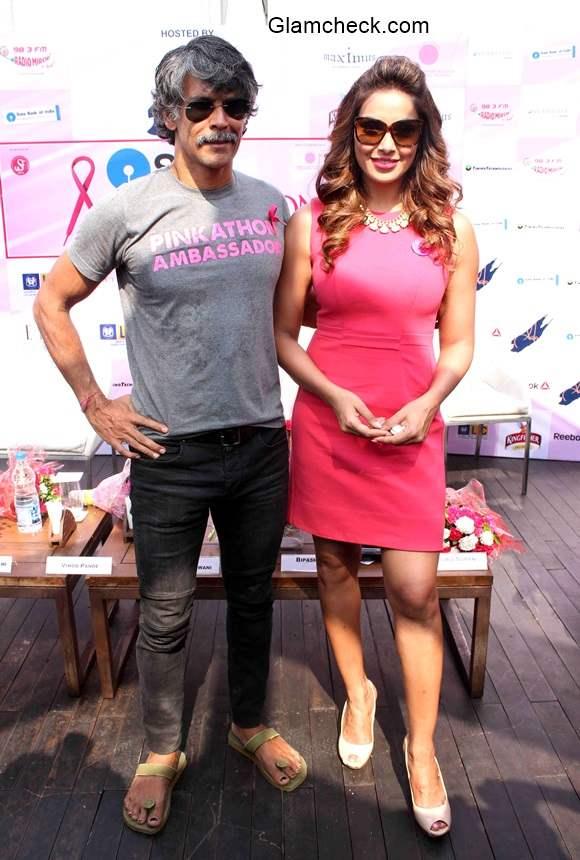 Milind Soman and Bipasha Basu announce the 3rd edition of Pinkathon in Mumbai
