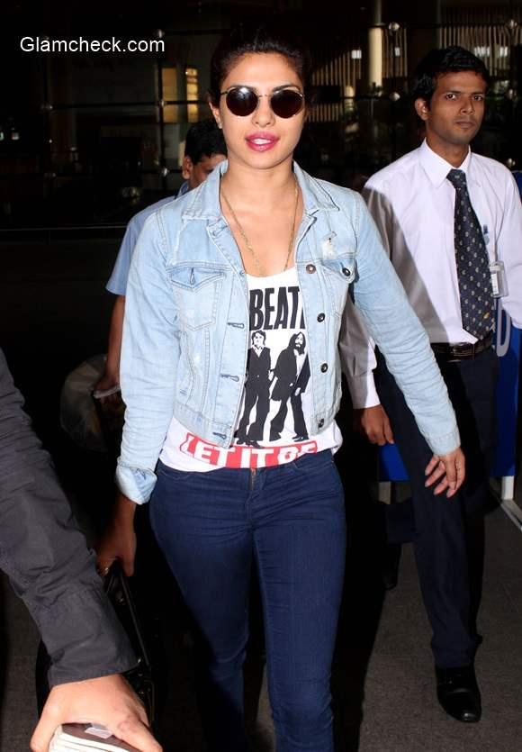 Priyanka Chopra Style at the Chhatrapati Shivaji International Airport