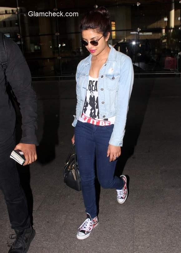 Priyanka Chopra spotted at the Chhatrapati Shivaji International Airport
