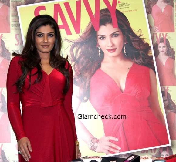 Raveena Tandon on cover of Savvy magazine
