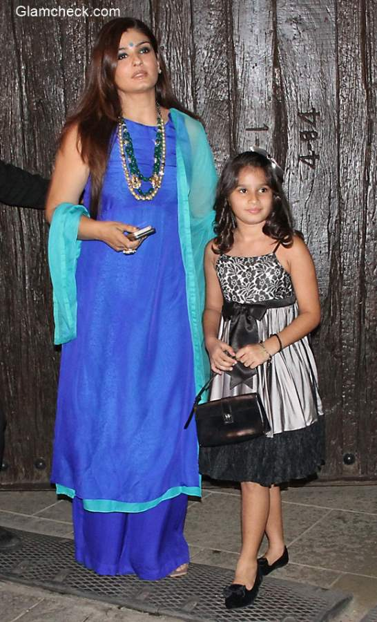 Raveena Tandon with her daughter