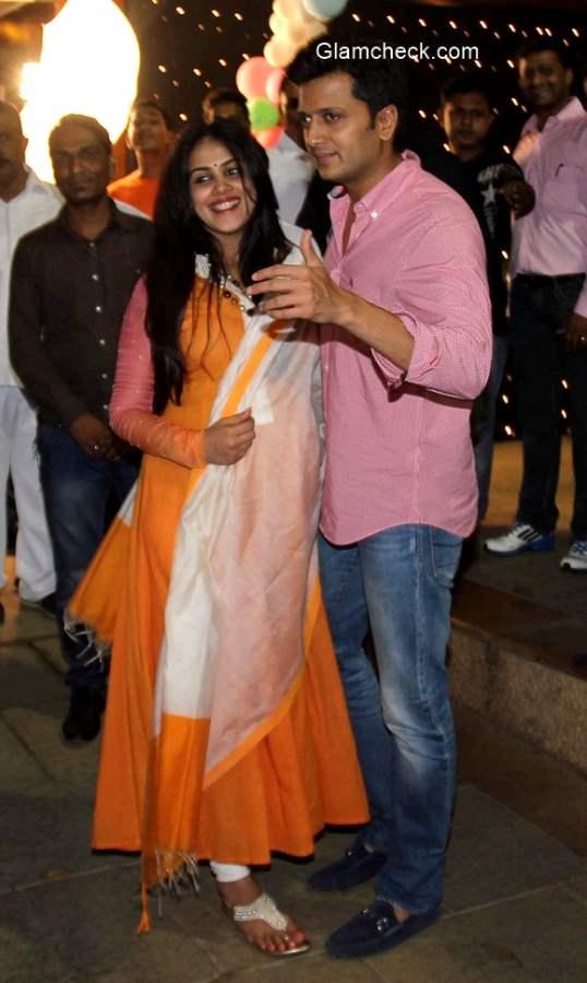 Riteish Deshmukh along with his wife Genelia D'Souza