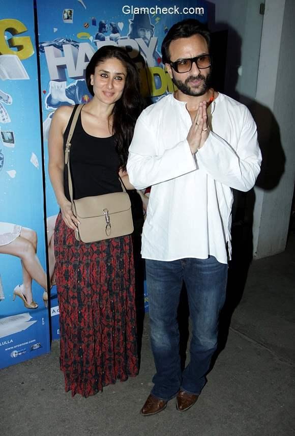 Saif and Kareena at Happy Ending Special Screening