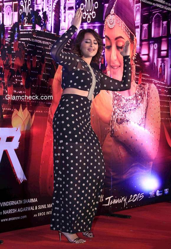 Sonakshi Sinha during the promotion of song Radha from her latest film Tevar