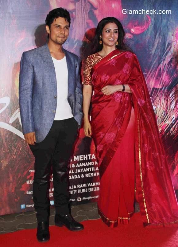 Tabu and Randeep Hooda during the screening of Rang Rasiya