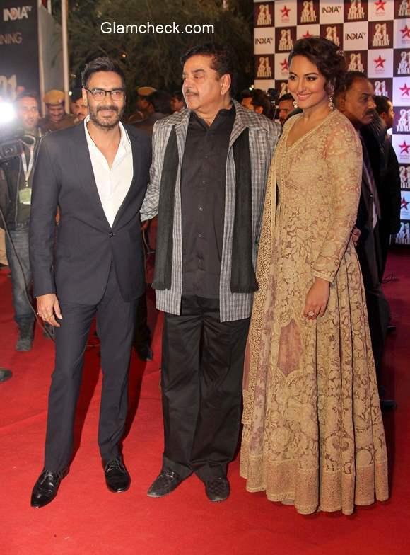 Ajay Devgan Shatrugan Sinha and Sonakshi Sinha
