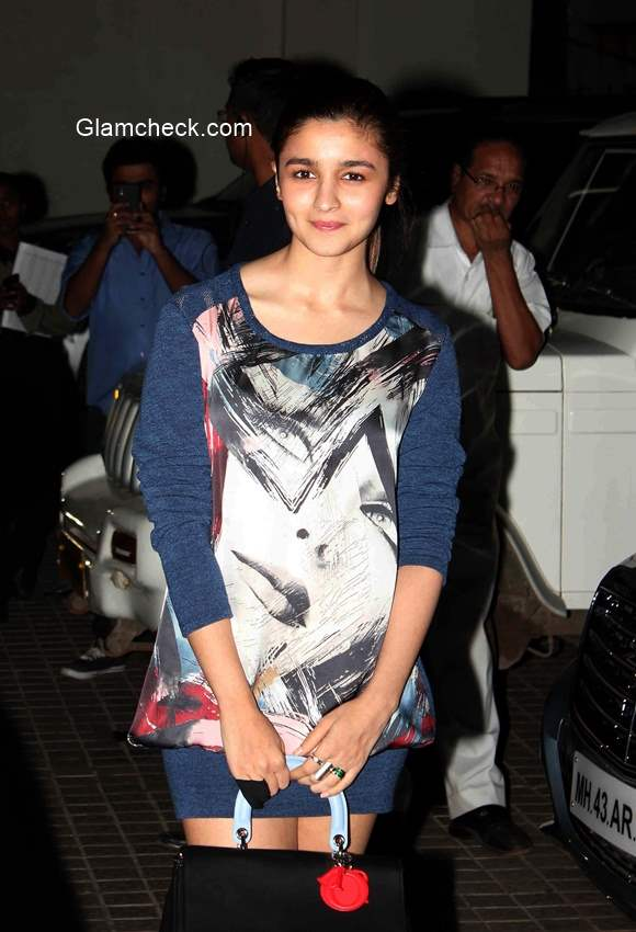 Alia Bhatt during the premiere of film Ugly