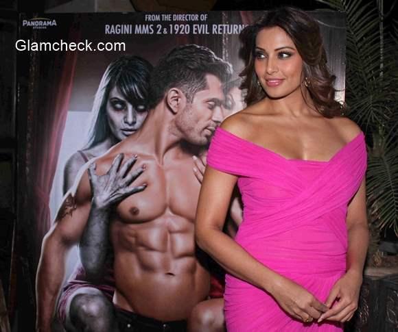 Bipasha Basu and Karan Grover Singh at the music preview of film Alone