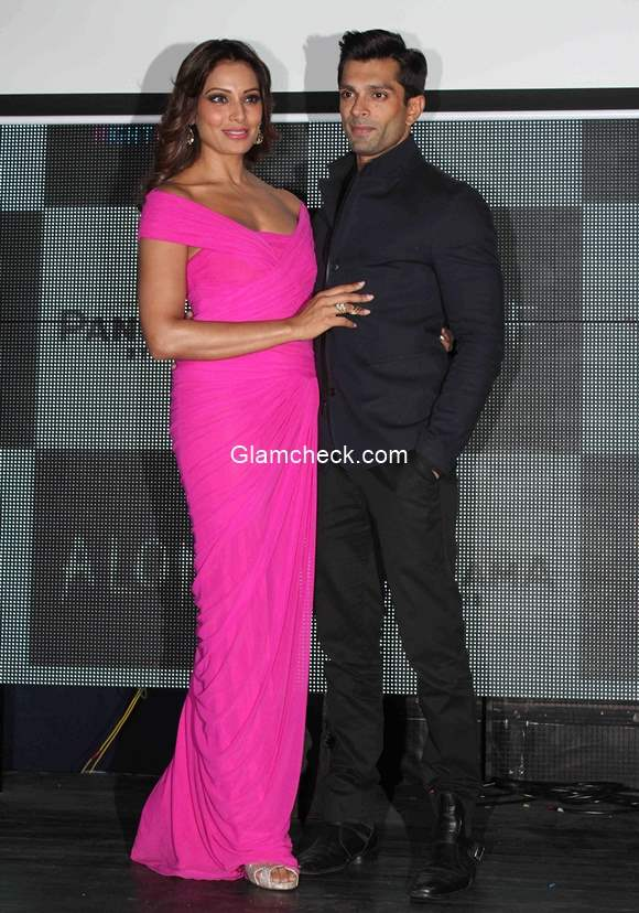 Bipasha Basu and Karan Grover Singh attends the music preview of film Alone