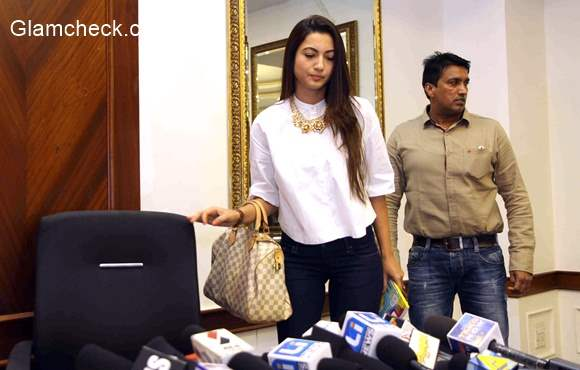 Gauhar Khan speaks to the media regarding the physical attack on her during India's RAW star