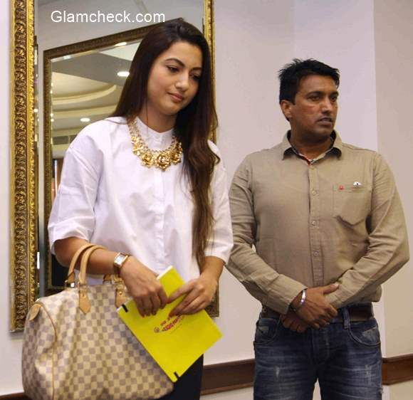 Gauhar Khan speaks to the media regarding the physical attack on her during Indias RAW star