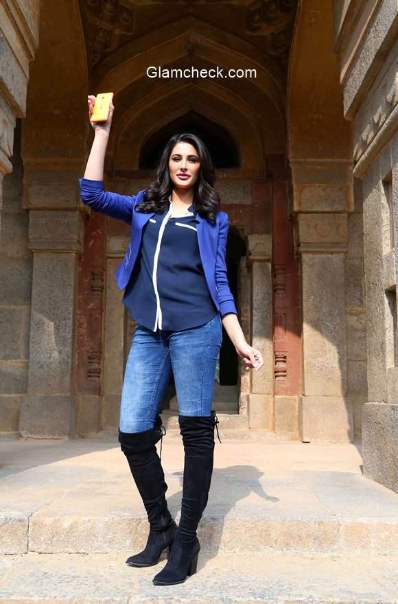 Nargis Fakhri for Microsoft Lumia 535 campaign Romancing India with Lumia 535