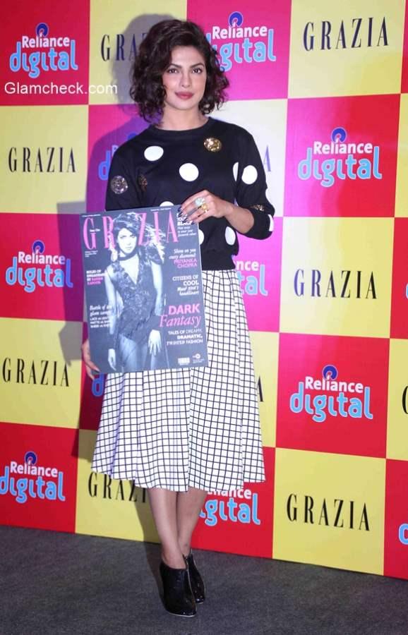 Priyanka Chopra graces the launch of Grazias December issue