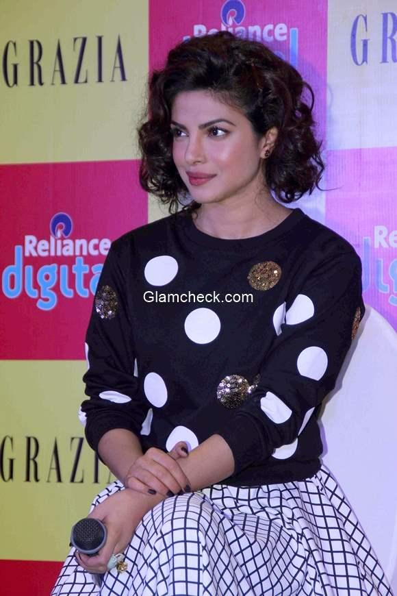 Priyanka Chopra launches of Grazia December issue 2014