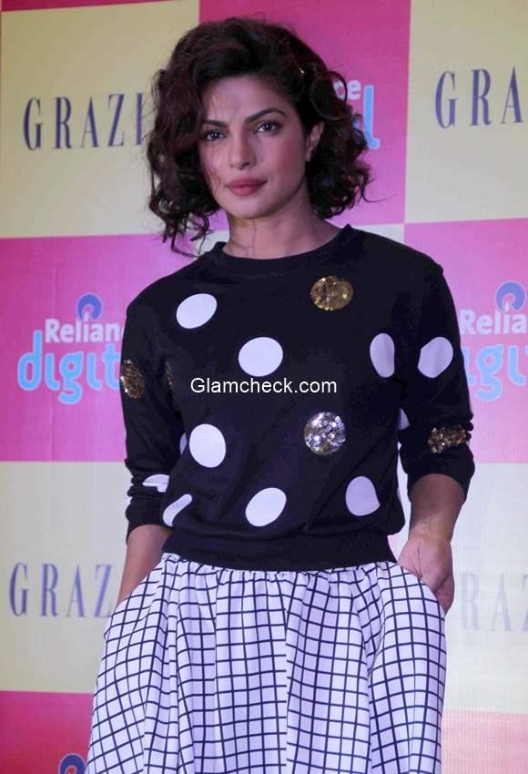 Priyanka Chopra launches of Grazia December issue