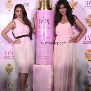 Soha Ali Khan Chitrangada Singh at the launch of Livon Moroccan Silk Serum