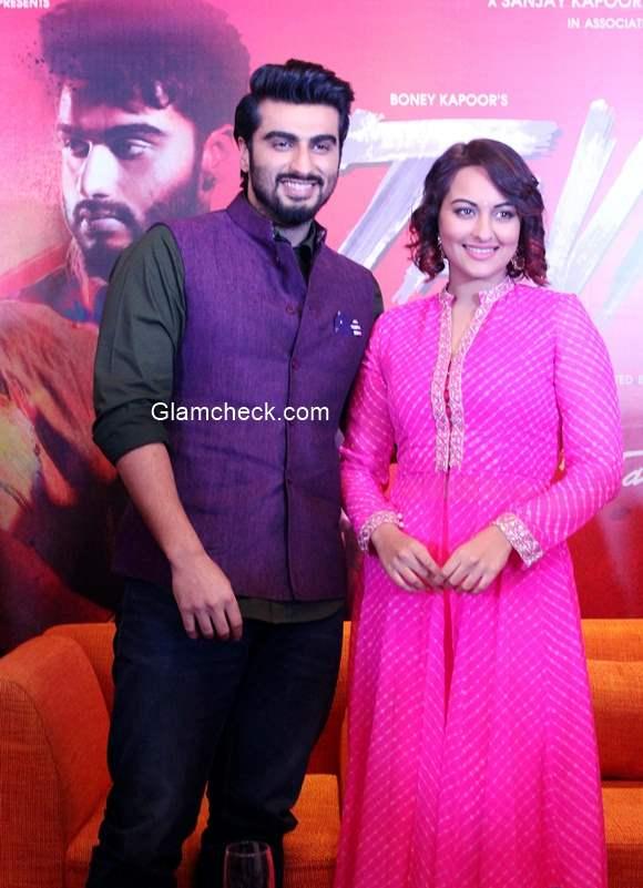 Sonakshi Sinha and Arjun Kapoor inTevar