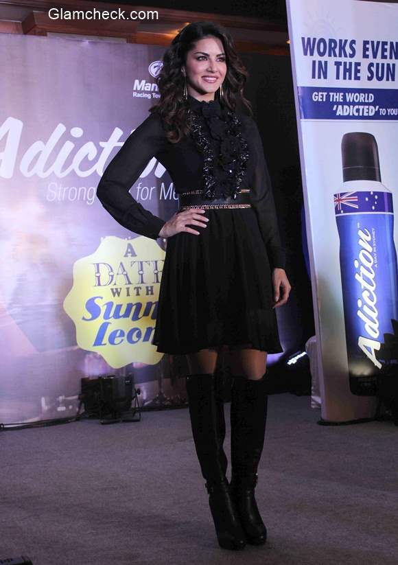 Sunny Leone at the grand finale of Adiction Deo contest